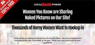 Localbangfinder.com home page