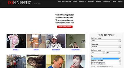 XxxBlackBook.com home page