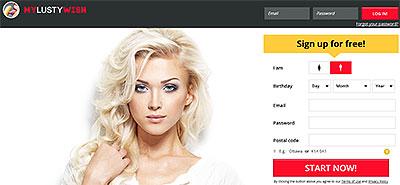 MyLustyWish.com home page