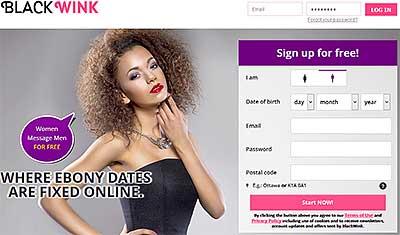 BlackWink.com home page