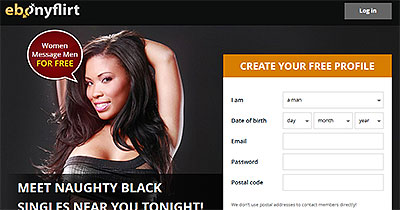 EbonyFlirt.com home page