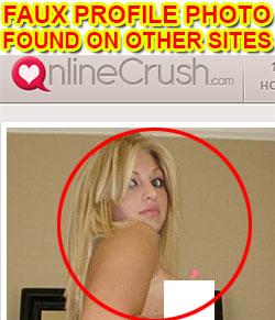 Fake profile photo OnlineCrush.com