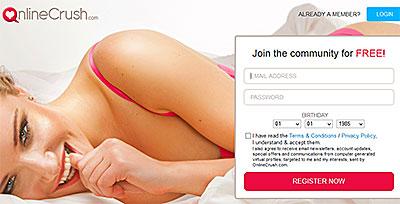 Onlinecrush.com homepage